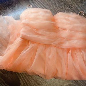 Dresses & Skirts - Delia's dress peach mesh size 7